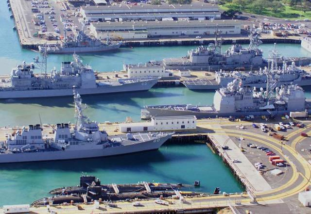 US naval base, Pearl Harbour, Hawaii