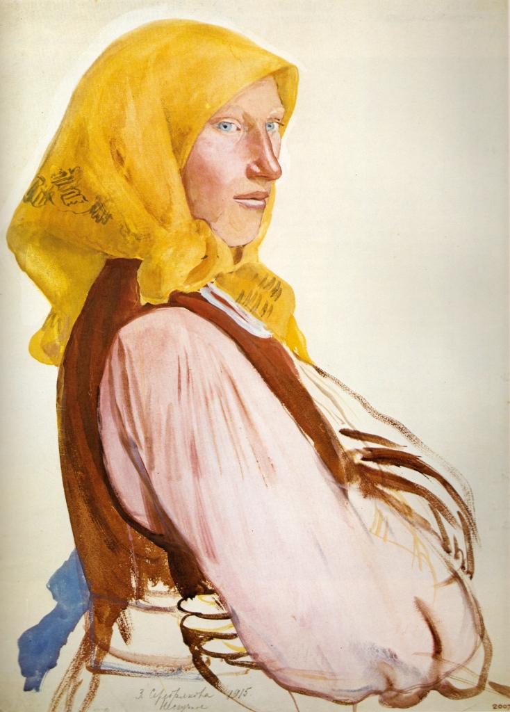 Zinaida Serebriakova, Portrait of Polia, 1915. Tempera on paper. The Russian Museum