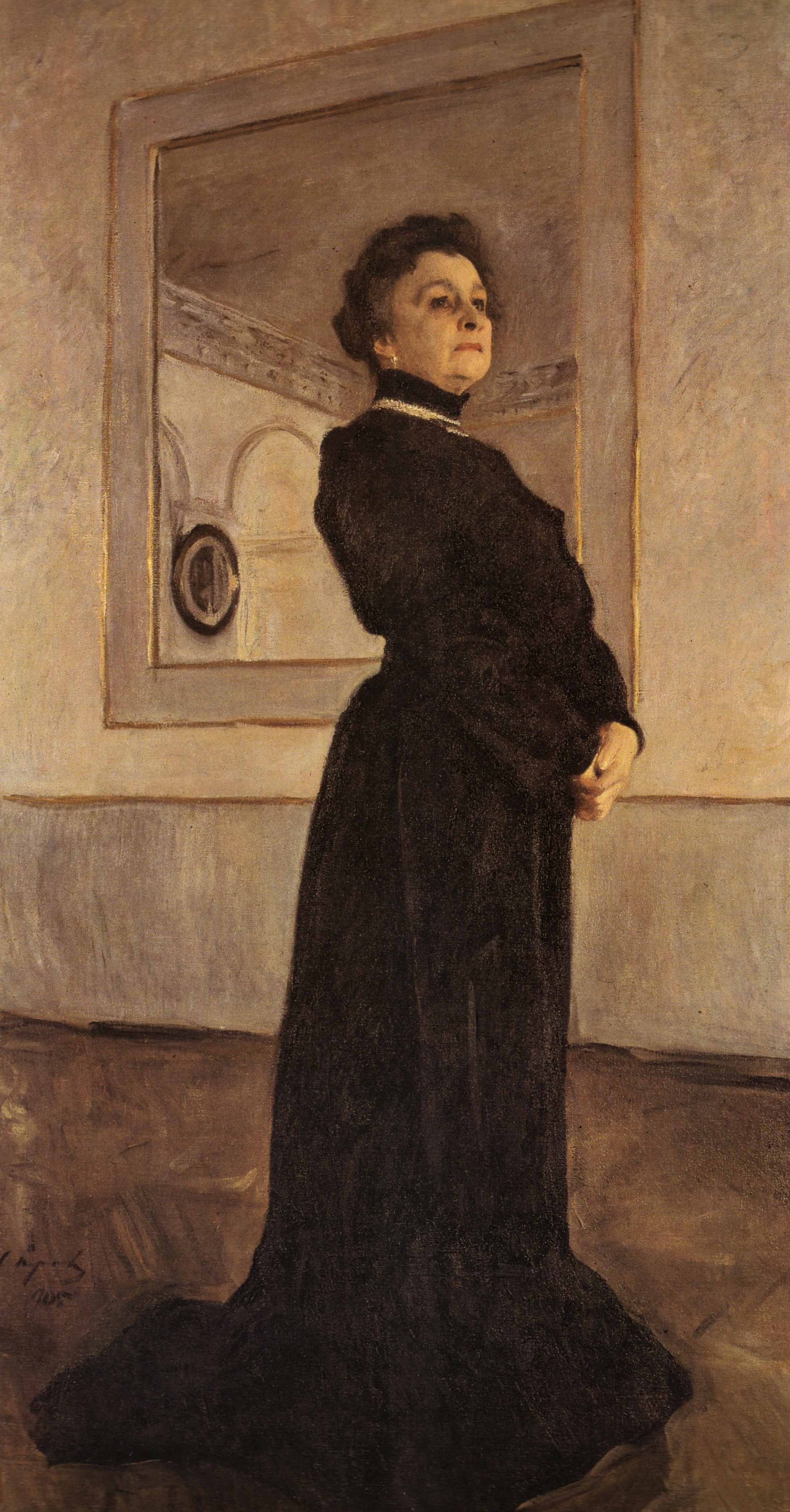 Valentin Serov, Portrait Of Maria Yermolova, 1905. Oil On Canvas. The  Tretyakov
