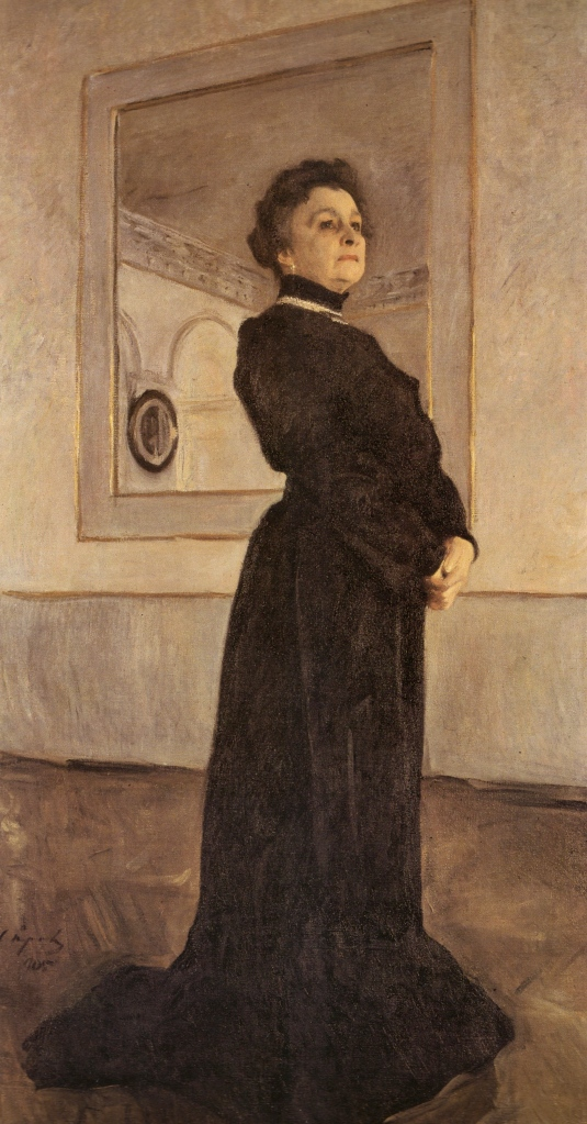 Valentin Serov, Portrait of Maria Yermolova, 1905. Oil on canvas. The Tretyakov Gallery