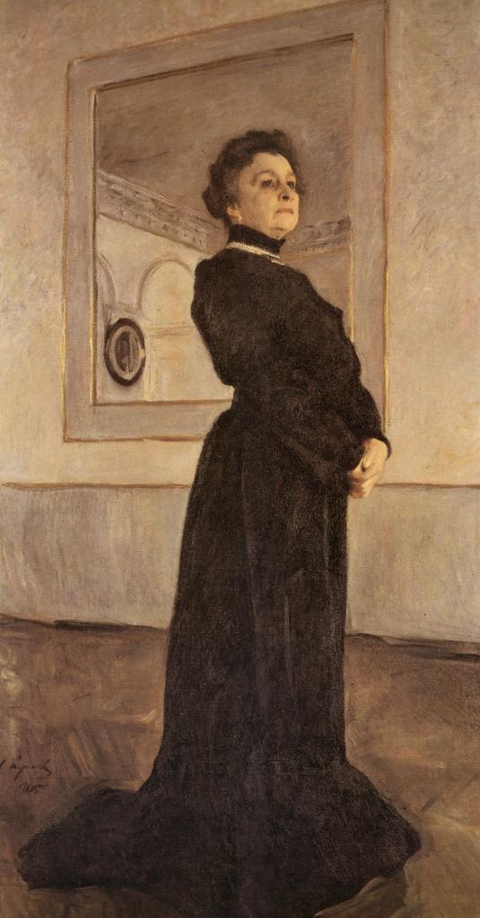 Valentin Serov, Portrait of Maria Yermolova, 1905. Oil on canvas. The Tretyakov Gallery