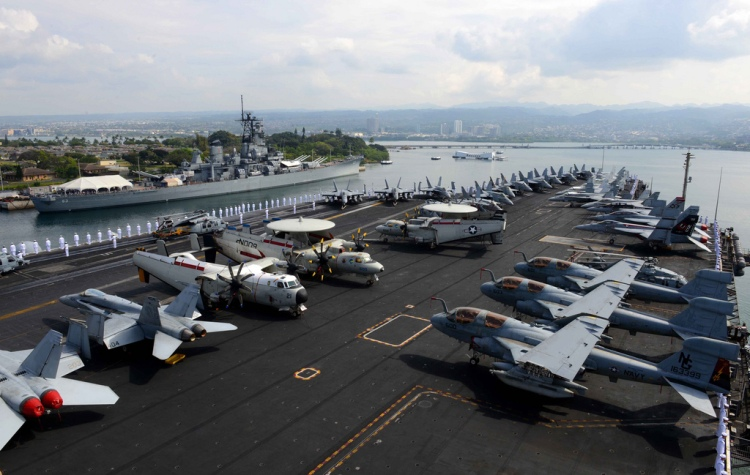 Stennis Carrier Strike Group Arrives in Hawaii
