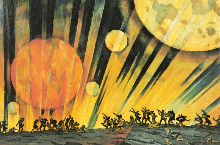 Konstantin Yuon, 'A New Planet,' 1921. Tempera on cardboard, The Tretyakov Gallery, Moscow