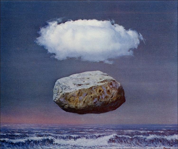 René Magritte, Les Idées Claires, oil on canvas, 1955