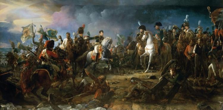 François Gérard, La bataille d'Austerlitz, 2 decembre 1805, oil on canvas, 1810, Galerie des Batailles, Versailles