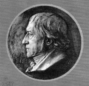 Bronze plaque of Hegel by Karl Donndorf (1870-1941) emplaced in 1931 at Hegel-Haus in Stuttgart.