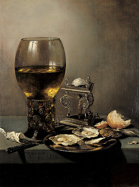 Pieter Claesz, Still Life, 1643, oil on panel, Saint Louis Art Museum