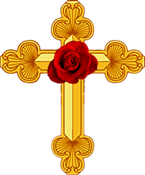 The rose  in the Rosicrucian cross represents unfolding consciousness. 'To recognise reason as the rose in the cross of the present and thereby to enjoy the present, this is the rational insight which reconciles us to the actual…' Hegel's Philosophy of Right, Preface.