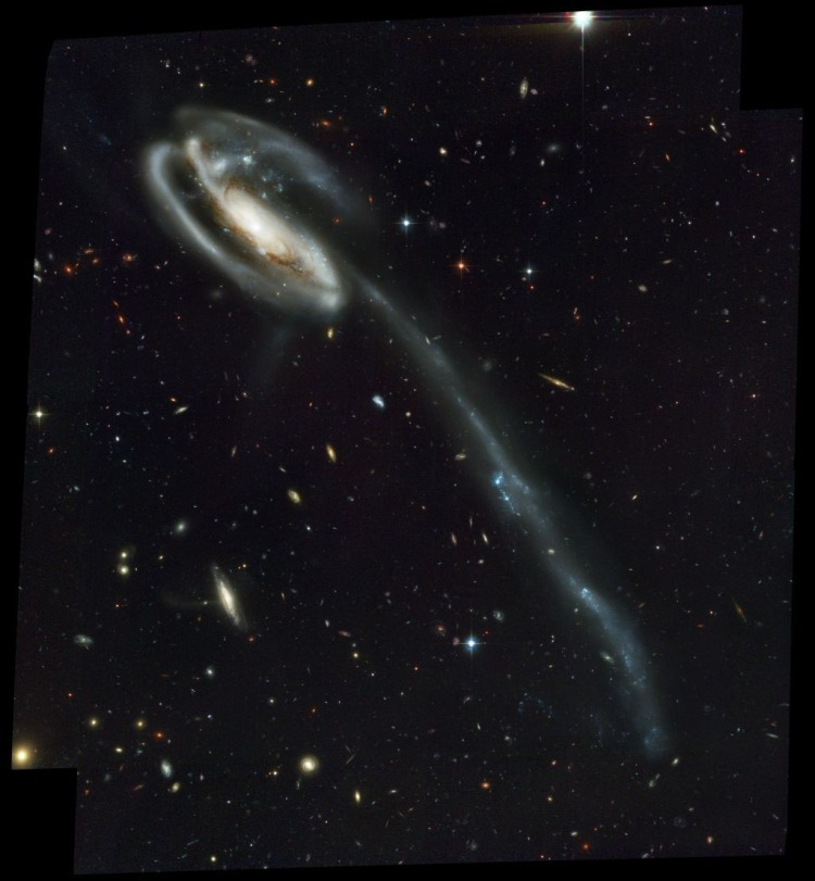 9. The Tadpole Galaxy, Arp 188. Its tail is about 280 thousand light-years long.