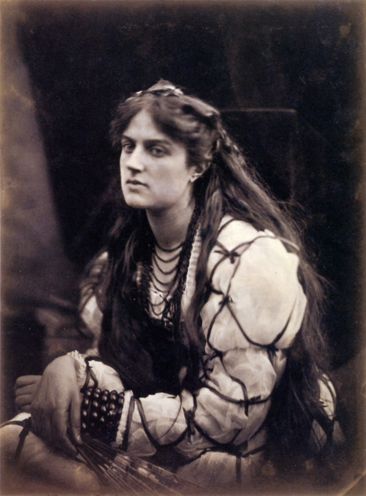 Marie Spartali as Hypatia, 1867, Albumen print by Julia Margaret Cameron