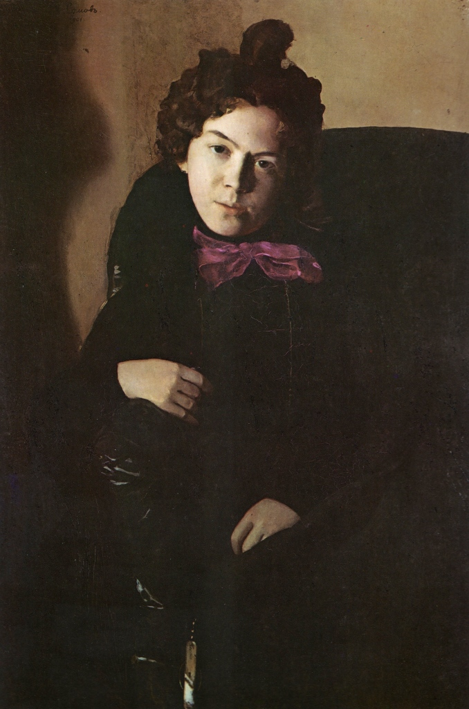 Konstantin Somov, Portrait of Anna Ostroumova, 1901. Oil on canvas. The Russian Museum