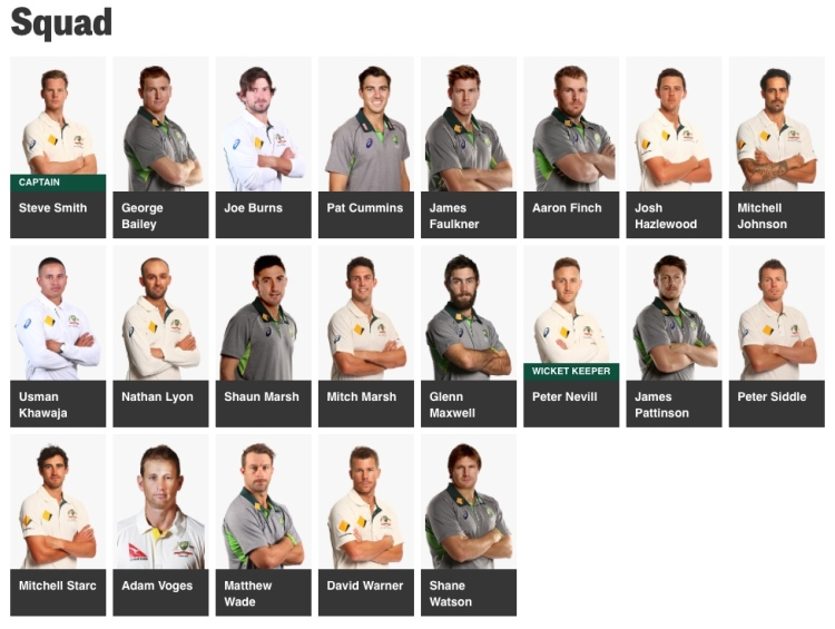 Australian cricket team playing New Zealand