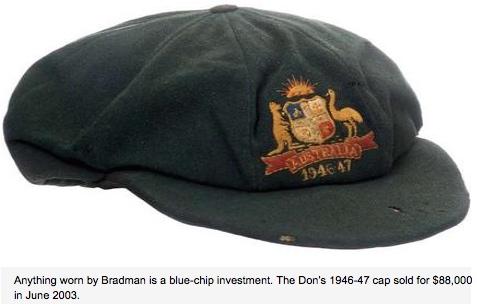 Don Bradman's cap