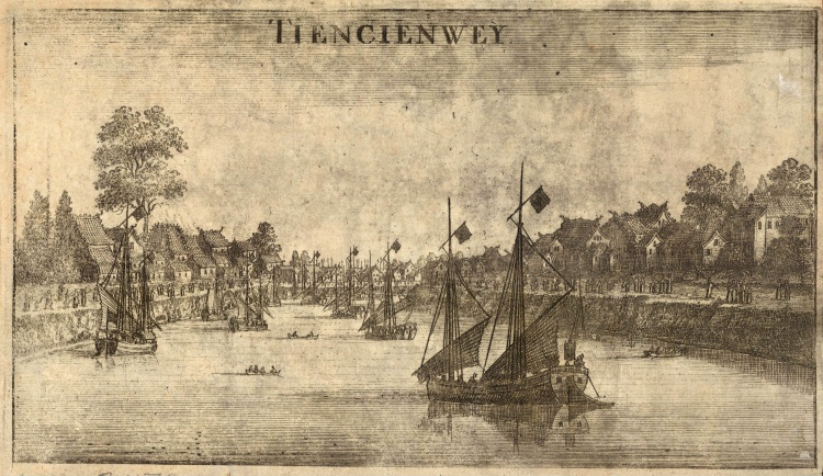 Tiencienwey (Tianjin ['Heaven's Ferry']), n.d., Wenceslaus Hollar (1607-1677)
