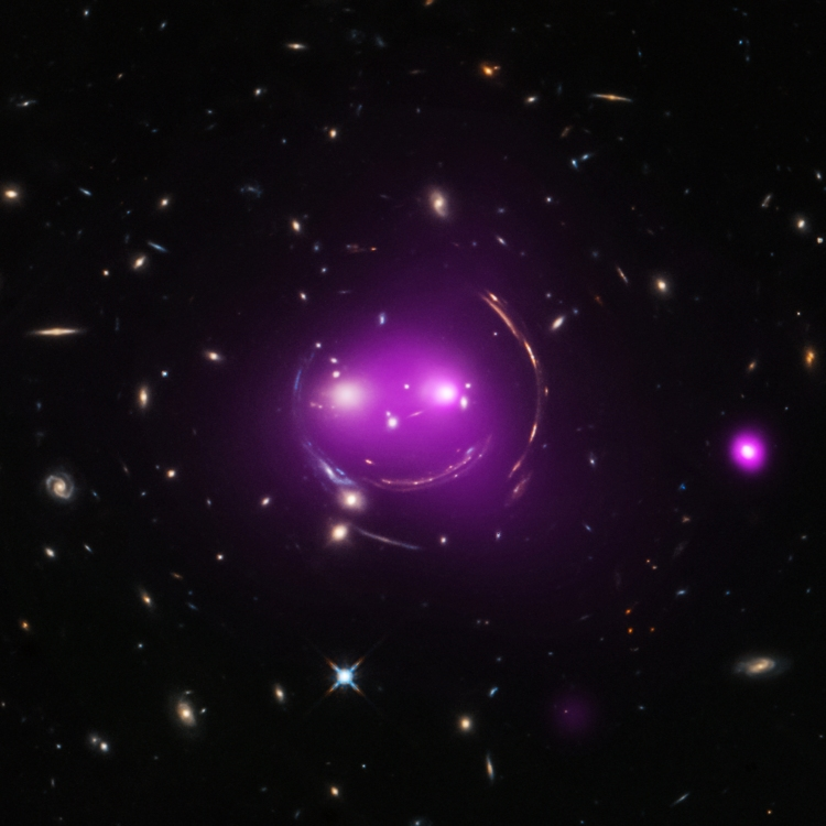 "A group of galaxies nicknamed the ""Cheshire Cat"" about 4.6 billion light years from Earth."