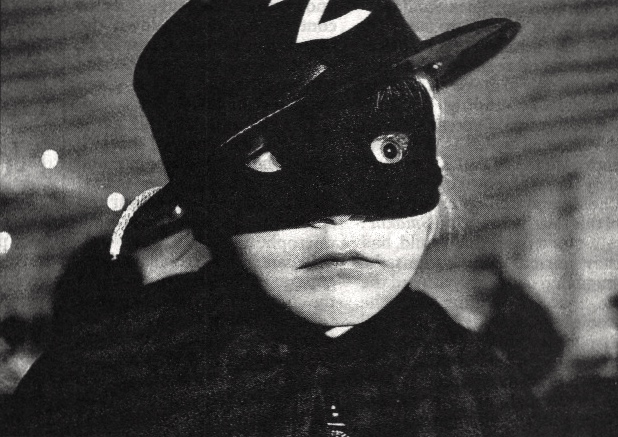 Zorro boy with large eyes